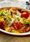 じゃが芋・玉ねぎ・トマトのチーズ焼き