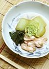 加賀太きゅうりと地鶏の含ませ煮あんかけ風