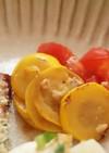 ズッキーニとトマトの醤油麹マリネ