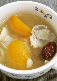 ビワとナツメ、豚肉のスープ
