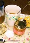 紅茶にマーマレードを➕オレンジティー☺⛄