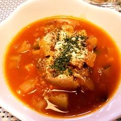 栄養満点☆野菜たっぷり無水ミネストローネ