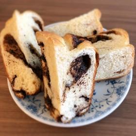 HB簡単に折込なしのチョコマーブル食パン