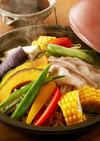レンジで簡単!豚肉と夏野菜の重ね蒸し