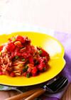 牛肉とトマトのピリ辛カッペリーニ