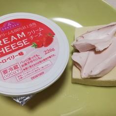 高野豆腐のストロベリーショートケーキ風