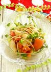 鶏皮のわさびポン酢サラダ