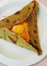 卵とチーズのガレット