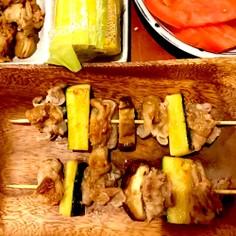 豚バラとズッキーニの串焼き