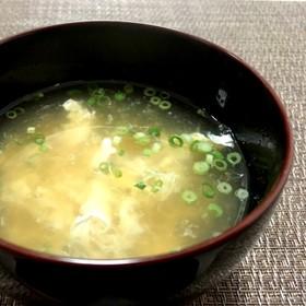 ハマる!余った卵白消費!和風たまごスープ