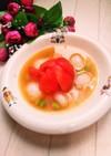 トマトと枝豆の冷たい☆さっぱり味噌スープ