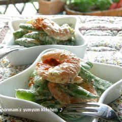 海老とスナップえんどうのデリ風サラダ