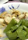 ボイルホタテと甘長唐辛子の煮物