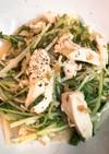 夏バテ防止!鶏と水菜の梅酢バター炒め