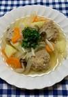 海老肉団子と常備野菜のスープ