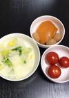 白菜の牛乳煮(ささみ.玉こん.トマト)