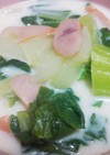 速攻簡単メニュー!青梗菜のミルクスープ♡