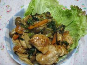 鶏胸肉&チンゲンサイの中華炒め