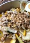納豆マーボーうどん(麻婆豆腐リメイク)