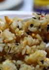 ひじきと大豆のおから煮チャーハン