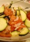 ズッキーニ、トマト、玉ねぎのサラダ