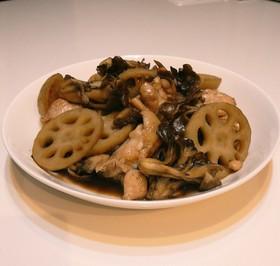 鶏肉の照り焼きwith蓮根&舞茸