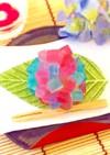 超簡単☆紫陽花の和菓子