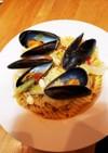 ムール貝とトマトのあっさりパスタ