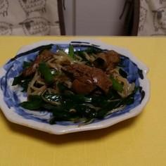 ファミマ国産レバーしぐれ煮で簡単レバニラ