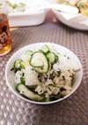 夏に☆キュウリと梅茶漬けの混ぜご飯