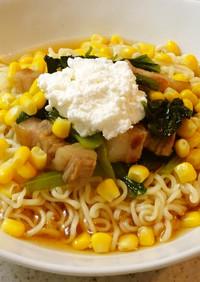 小松菜と塩豚の冷やしラーメン