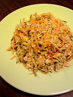 ツナごぼうの炒り豆腐