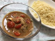 鯖とトマトの冷やしつけ麺の写真