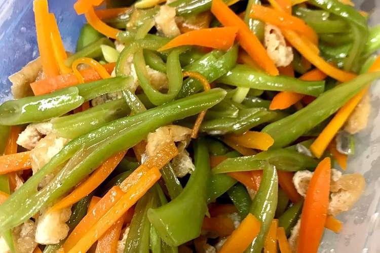 炒め ささげ ささげのそぼろ中華炒め の作り方