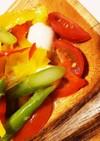 カラフルカプレーゼトマトサラダ