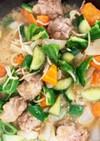 豚こま団子ときゅうり野菜味噌にんにく炒め