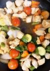 夏野菜胸肉の砂糖を使わない照り焼き