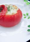 トースターだけ!夏野菜のトマトファルシ