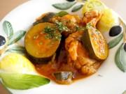 電気圧力鍋で♪鶏肉と夏野菜のトマト煮の写真