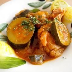 電気圧力鍋で♪鶏肉と夏野菜のトマト煮