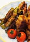 夏野菜の肉巻き〜簡単照り焼きタレ
