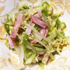 もやしとレタスの中華風サラダ