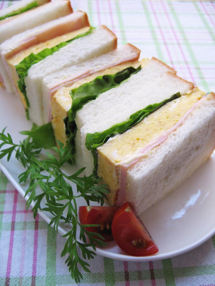 ◆幸福な朝食*あったか厚焼き卵サンド◆