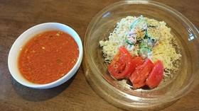 サッポロ一番塩らーめんでトマト冷製つけ麺