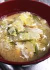 満足(^^)白菜と玉子の味噌汁