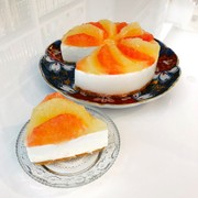 グレープフルーツのチーズヨーグルトムースの写真