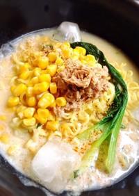 シーチキンとコーンのピリ辛冷やし麺☆