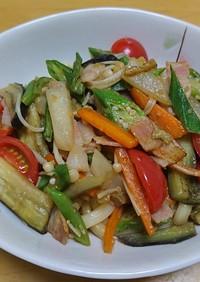 夏野菜消費!具だくさん焼きうどん