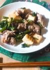 簡単!つるむらさきと豚肉の味噌炒め
