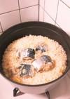 staub サバ缶で簡単炊き込みごはん